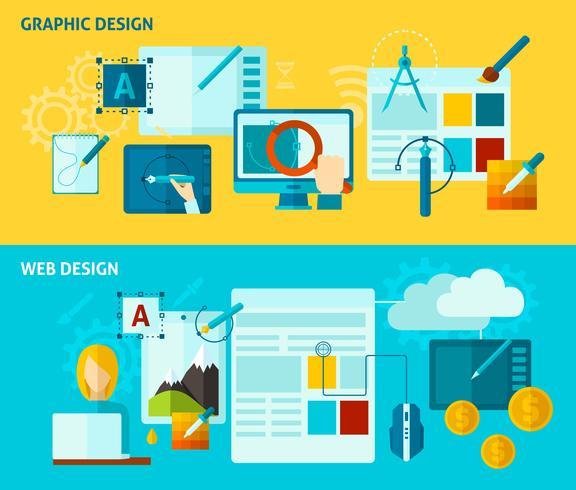 Banner de Design Gráfico vetor
