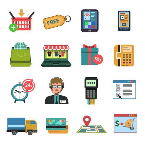 Icone online piatte