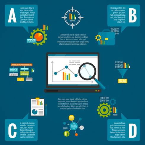 Conjunto de infográfico de análise de dados