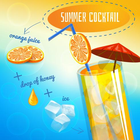Sommar Cocktail Recept vektor
