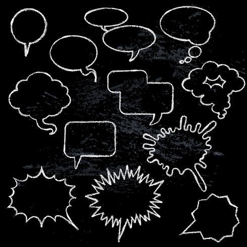 Burbujas de discurso cómico vector