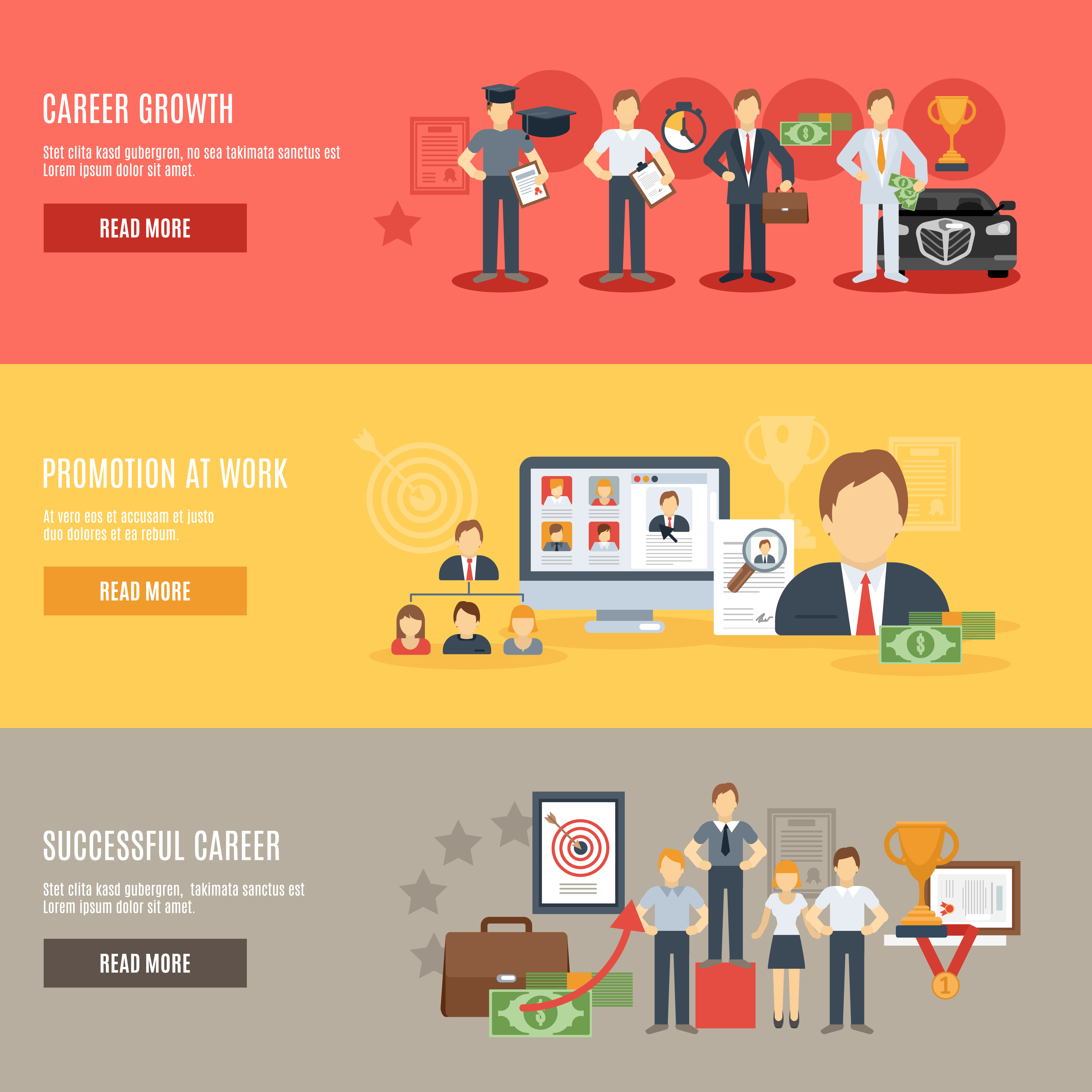 Career Banner Set Download Free Vectors Clipart Graphics Vector Art