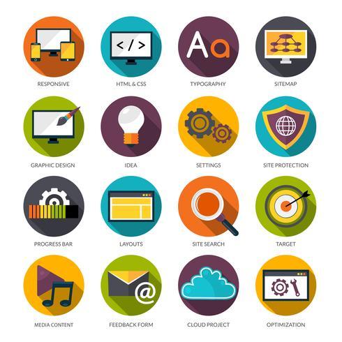 Set di icone di Web design