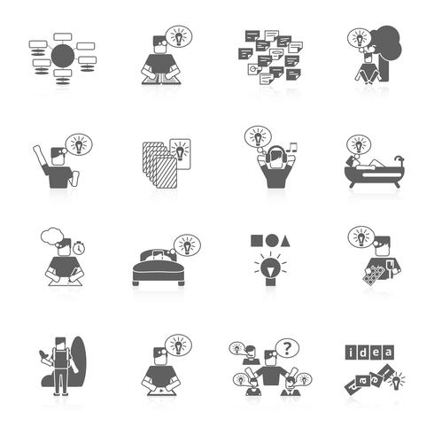 Ideen Icons Set