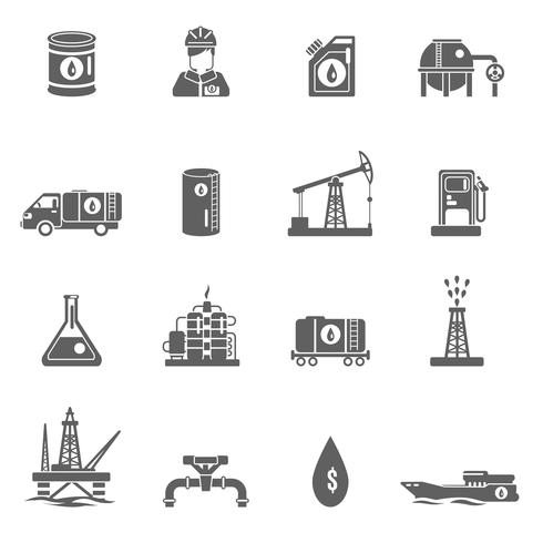 Ícone da Indústria Petrolífera vetor