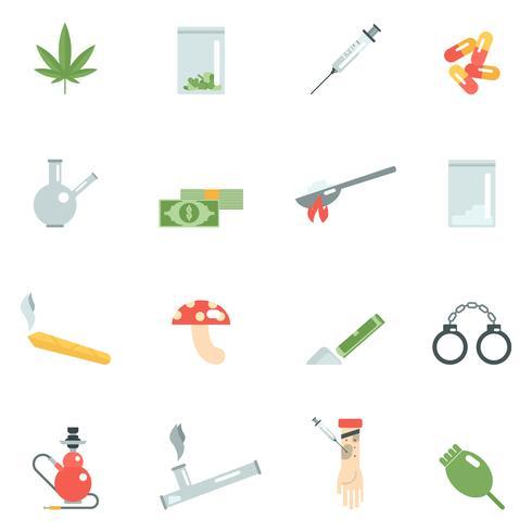Drogas iconos planos