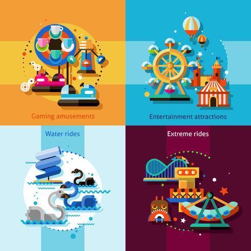 Conjunto de conceito de Design de diversões