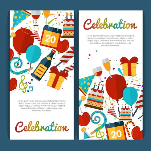 Celebration Banners Set vector