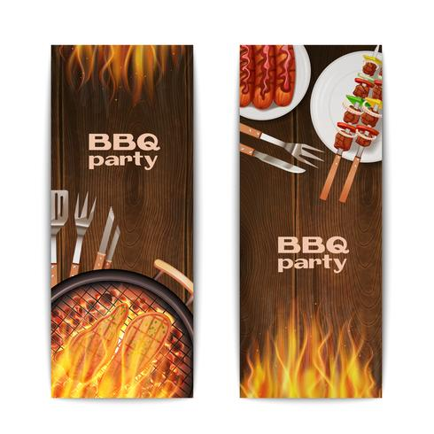 Bbq Grill Banners vector
