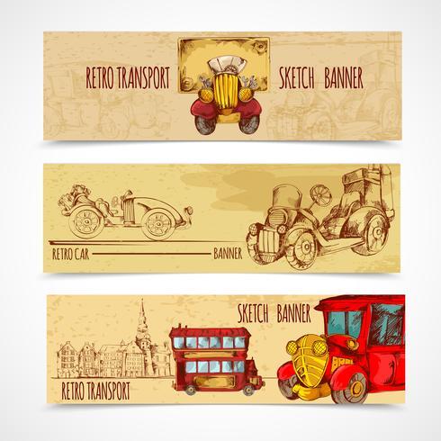 Vintage Transport Banners vector