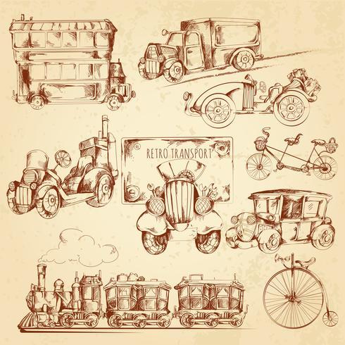 Vintage Transportskizze