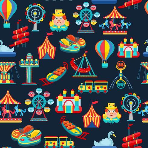 Nöjesparkets sömlösa mönster