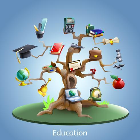 Education tree concept