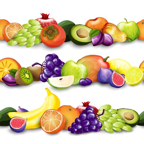 Fruits Borders Illustration vector