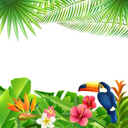 Tropische landschap achtergrond vector