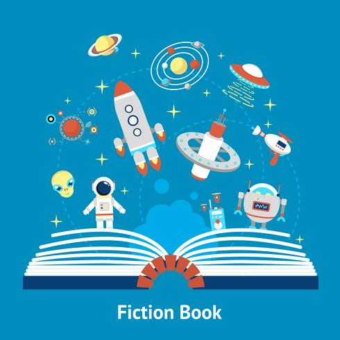 Fiction Book Illustration vector