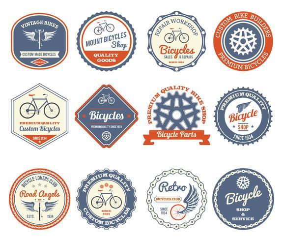 Emblemi di ciclismo impostati