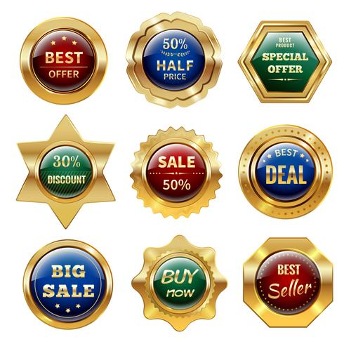 Goldene Verkauf Etiketten