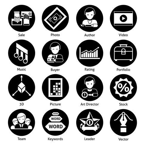 Stock Icons Black vector