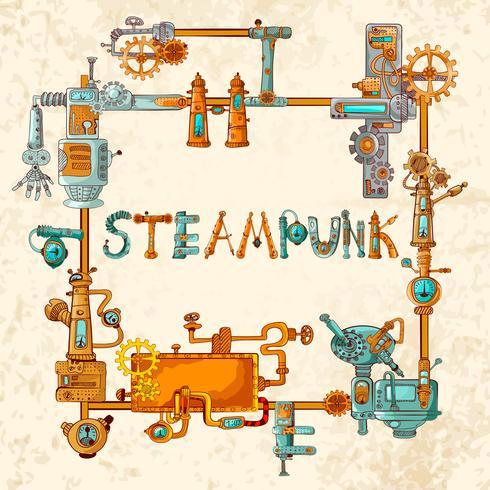 Quadro de Máquinas Industriais vetor