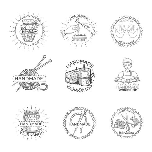 Sketch Handmade Label vector