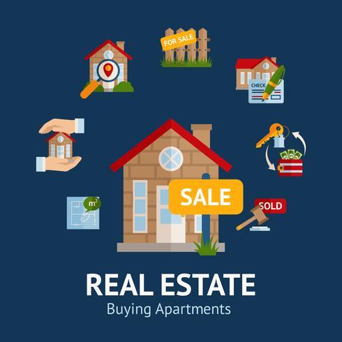 Real Estate Illustration vector