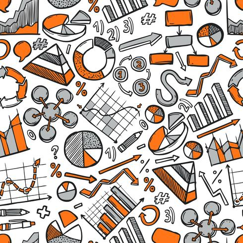 Charts Sketch Seamless Pattern vector