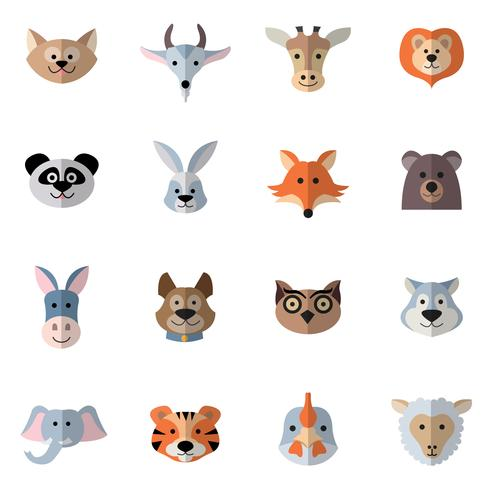 dieren hoofden plat