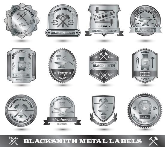 herrero etiqueta de metal