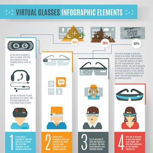 Infografía de gafas virtuales vector