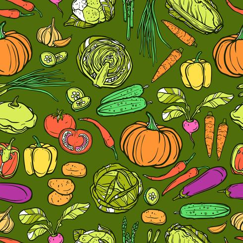 Grönsaker Seamless Pattern vektor