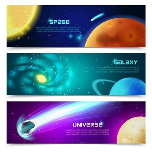 Conjunto de bandeiras de galáxia Cosmos