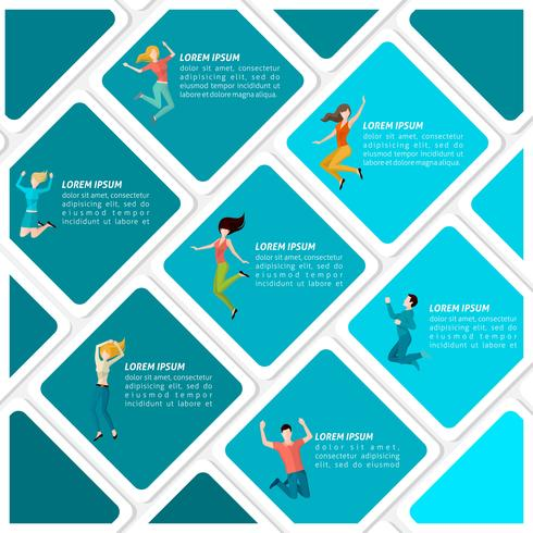 Jumping People Infographic