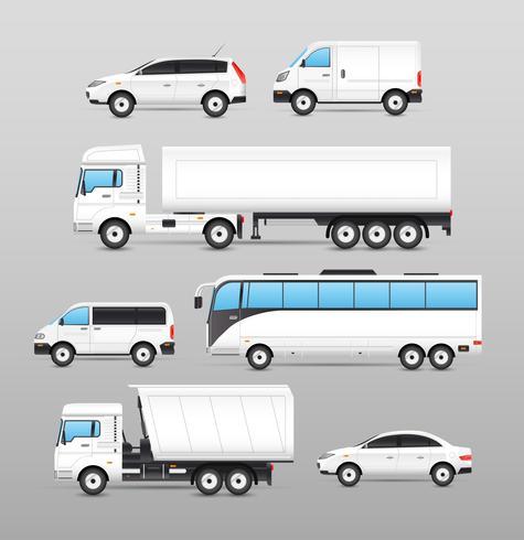Realistiska transportikoner inställda