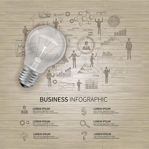 skissa affärsinfographics vektor