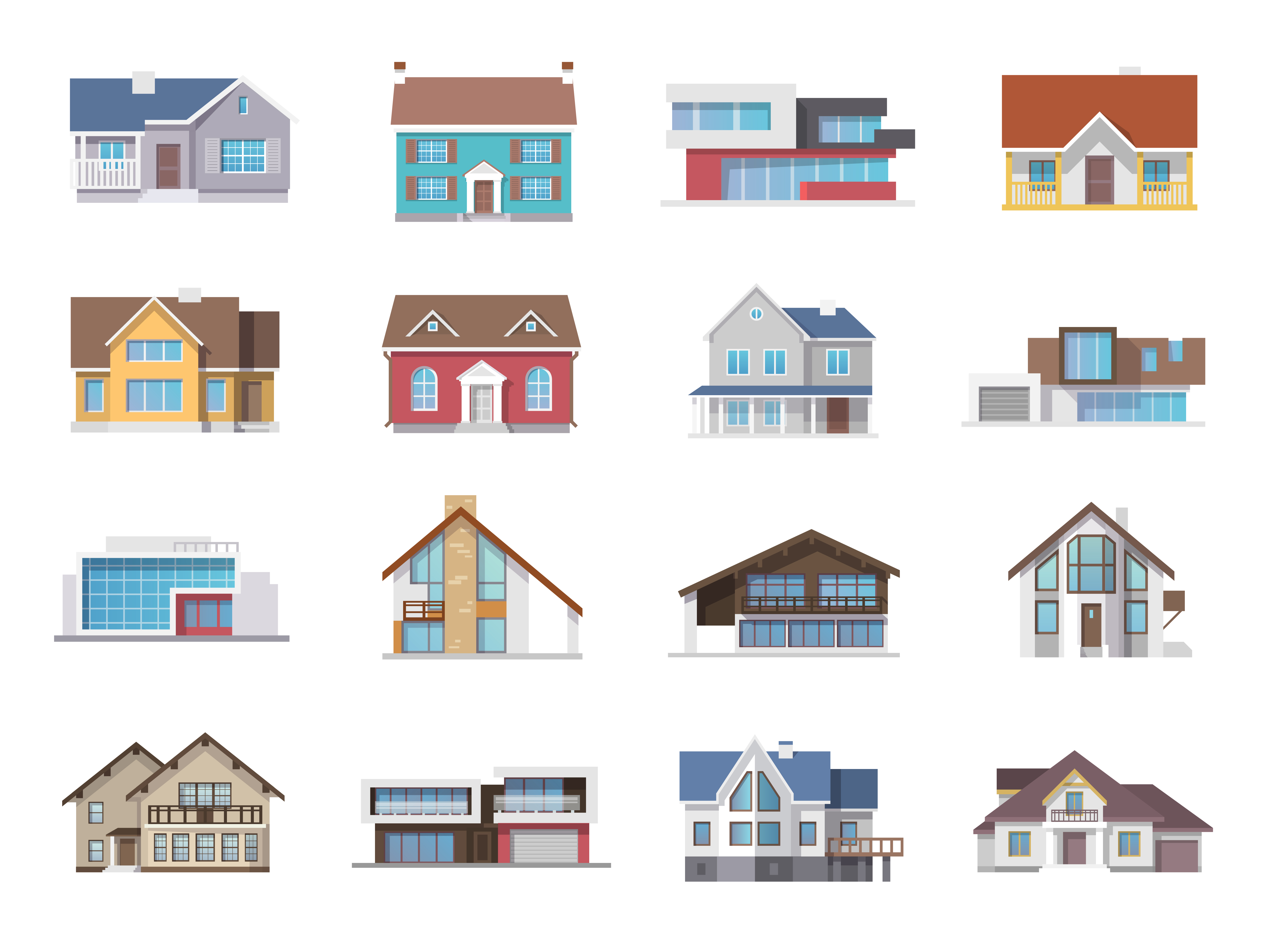 House Icons Flat - Download Free Vectors, Clipart Graphics ...