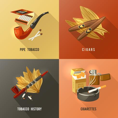 Concepto de diseño de tabaco vector