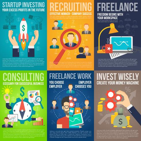 Business Poster Set vector