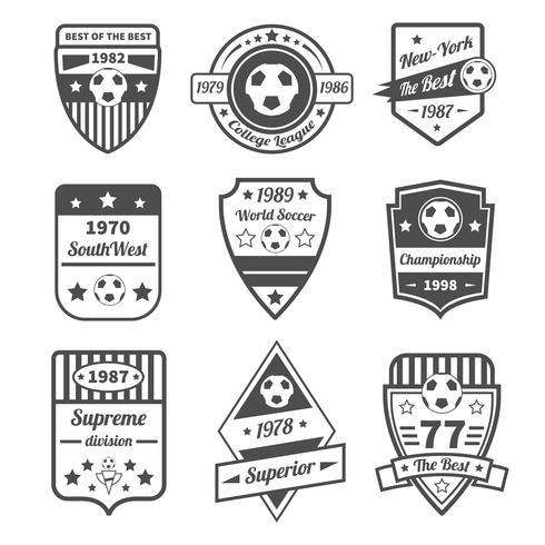Fotbolls etikettuppsättning