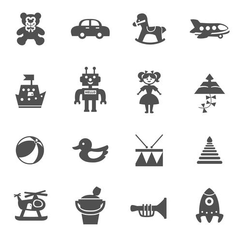 Jouets Icons Set