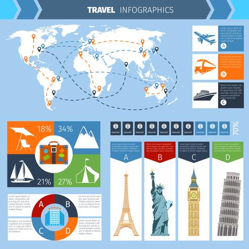 Travel Infographic Set vector