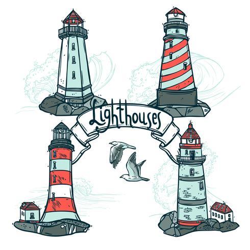 Lighthouse Sketch Set