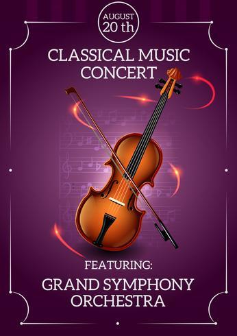 Poster de música clássica vetor