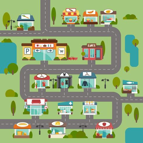 Store Building Road vector