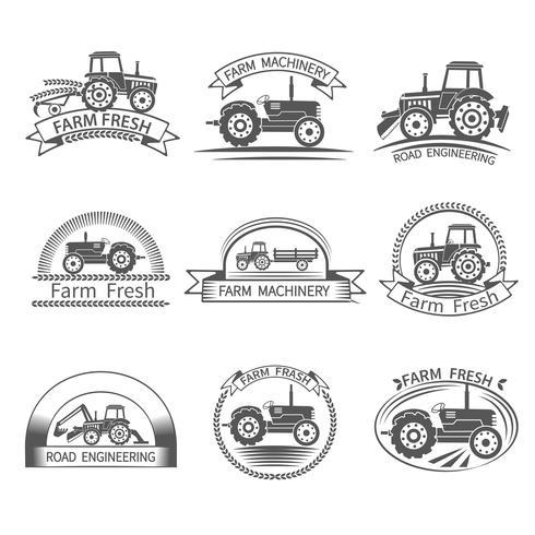 Traktor-Fahrer-Label