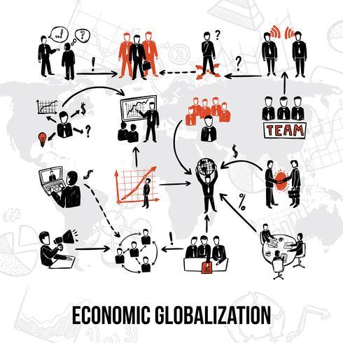 Organización de Empresas Infografía vector