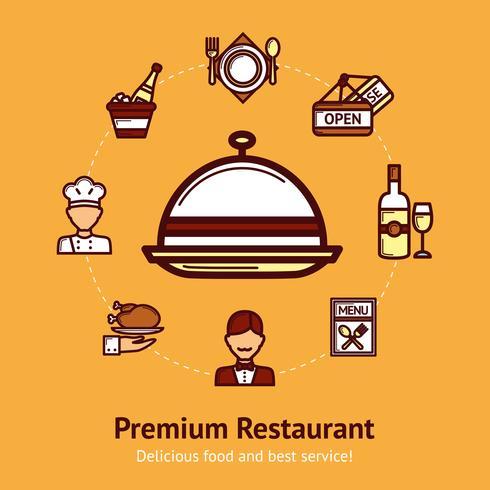 Ilustración del concepto de restaurante