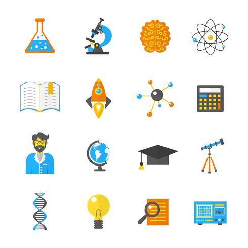 Vetenskap och forskning ikon platt vektor