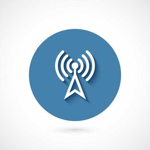 Wi-fi pictogram geïsoleerd