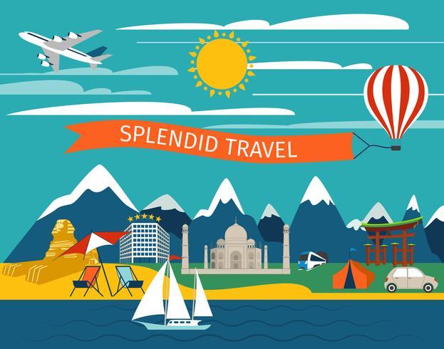 Splendid Travel Background vector